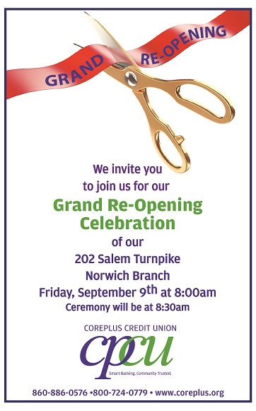 Coreplus Credit Union Grand Re Opening Greater Norwich Area